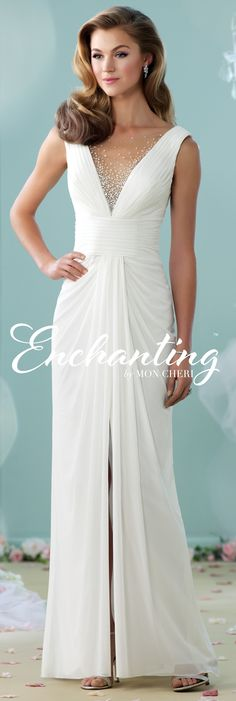 Enchanting by Mon Cheri - The Premiere Collection ~Style No. 215111 #sheathweddingdresses