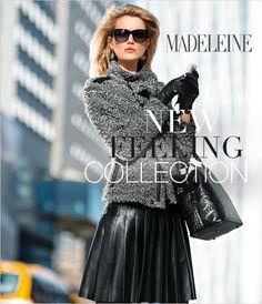 Herfst 2014 mode inspiratie: New feeling collection by Madeleine, Met voor de herfst mooie wollen truien en jasjes. Leren jasjes en gemaakt van lamsvacht met mouwomslagen met superzacht langharig Toscaans lamsvacht.  MEER http://www.pops-fashion.com/?p=12874