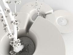 """Designer : Abdelkarim Antar """"Ibn"""" est un ensemble de 3 vases, à la fois indépendants et complémentaires. Ses matériaux traditionnels, sa couleur et ses lignes fluides en font un produit simple et ... #maisonAPart"""