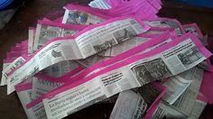 Ötletes Blog: Papírfonás: költséghatékony pálcafestés