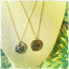 Nickel and leaf free metal necklaces available at both our Calgary locations.