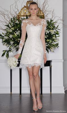 legends romona keveza fall 2016 a line mini wedding dress long sleeve illusion bodice l6135