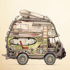 The ultimate overlanding surf van ? Vw Lt Camper, Camper Life, Auto Camping, Camping Site, Truck Camping, Motorhome, Surf Van, Vw Lt 4x4, Van Vw