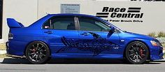 Fish Shark Tattoo Street Racing Design Racing Drift Tuned Car vinyl tr037