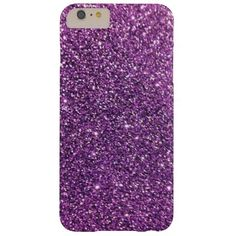 Purple Glitter iPhone 6 Plus Cases Barely There iPhone 6 Plus Case #zazzle #glitter #phonecases #purple