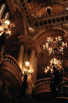 They are ostentatious and big; made for grandeur; made to make people cower in awe.