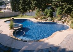 in ground swimming pool designs - Google Search