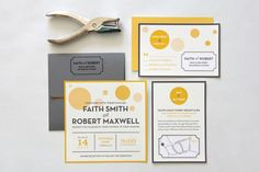 Modern Wedding Invitation Suite  I Am by LulubeeDesignStudio, $5.00
