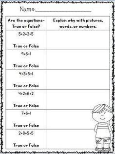 Show using pictures 1st Grade Homework, 1st Grade Math, Teaching First Grade, Teaching Math, Math Stations, Math Centers, Math Skills, Math Lessons, Math Resources