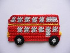 Check out our crochet application selection for the very best in unique or custom, handmade pieces from our stuffed animals & plushies shops. Crochet Car, Crochet Blocks, Crochet For Boys, Crochet Beanie, Crochet Toys, Crochet Applique Patterns Free, Crochet Motif, Crochet Flowers, Stuffed Animals