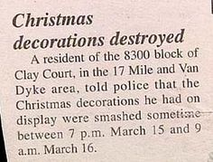 yes buddy I would smash your decorations to if they were still up on March 15th!