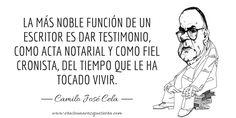 Camilo José Cela sobre el oficio de escritor.