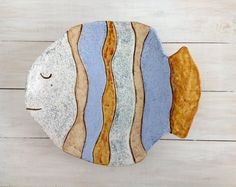 Large ceramic plate, handmade ceramic bowl, handmade pottery, fish, d . Pottery Plates, Ceramic Plates, Decorative Plates, Ceramic Pottery, Stoneware Clay, Handmade Pottery, Handmade Ceramic, Cerámica Ideas, Clay Fish