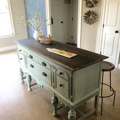 One of a kind kitchen island made from a repurposed solid hardwood ...