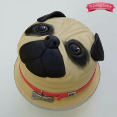 Pug Cake  By www.facebook.com/doncastercustomcakery