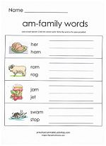 CVC Word Family Practice Sheets {for 23 word families} | Word ...