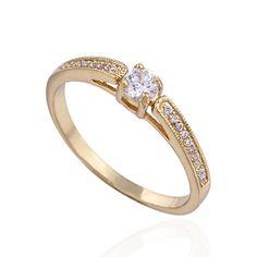 Ку-Ню Женская золотое покрытие Циркон кольцо Wj0004 – RUB p. 207,33