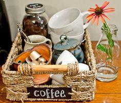 kitchen organization coffee station, chalkboard paint, crafts, home decor, kitchen design, mason jars, organizing, Enjoy making your next cup of coffee
