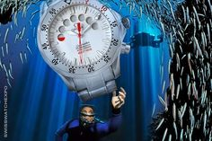 The Omega Seamaster Apnea was design in conjunction with Apnea diver Jacques Mayol.  Apnea is the technical term for suspension of breathing. Apnea diving is an extreme sport where attempt to dive to the greatest depth or stay under water for the longest period of time without the aid of diving equipment.  http://www.swisswatchexpo.com/watches/Omega/Mens-Omega/Seamaster/Seamaster-Apnea-Jacques-Mayol-2595-30-00-5758