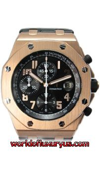 """26055OR.OO.D001IN.01 - LIMITED EDITION 100 pieces! The Audemars Piguet Royal Oak Offshore Jay-Z Model is showcased in 44-mm 18K rose gold case with engraved """"Royal Oak Offshore Jay-Z 10th Anniversary"""" around the top of the caseback and """"Limited Edition"""" around the bottom finished off with Jay-Z signature on the center. - See more at: http://www.worldofluxuryus.com/watches/Audemars-Piguet/Discontinued-Models/26055OR.OO.D001IN.01/62_785_4079.php#sthash.XfsHr7dX.dpuf"""
