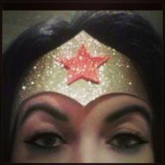 DIY glitter foam Wonder Woman Crown <3 (this was TOO easy to make!)