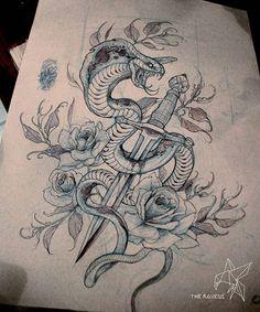 Traditional/old school cobra tattoo- Tattoo L, Tatoo Art, Body Art Tattoos, Tattoo Sketches, Tattoo Drawings, Drawing Sketches, Snake Drawing, Snake Art, Mascara Hannya