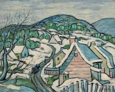 Marc-Aurèle Fortin, Laurentides in the Winter on ArtStack Ottawa River, Canadian Artists, Art Auction, Artwork, Painting, Mountains, Collection, Winter, Work Of Art