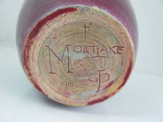 GEORGE COX MORTLAKE ART POTTERY VASE DATED 1912 - GTP mark