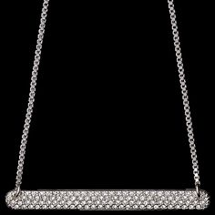necklace, 38 cm, silver plated, crystal