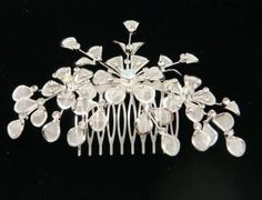 Silver And Crystal Hair Comb $30