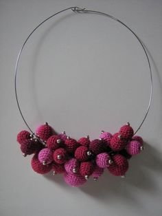 CROCHET NECKLACES  PINK by Suzann61 on Etsy, $40.00