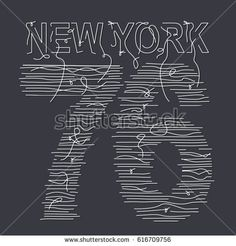 New York typography with a thread , tee shirt graphics, vectors , typography