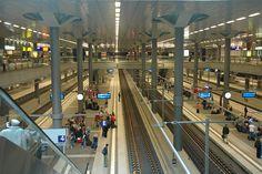 Berlin Hauptbahnhof ~ Underground platforms at Berlin Central Station