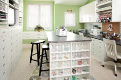 traditional home office by Closet & Storage Concepts An ultimate craft room!