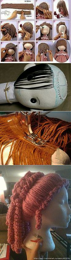 Hair for dolls in Pinterest                                                                                                                                                      More