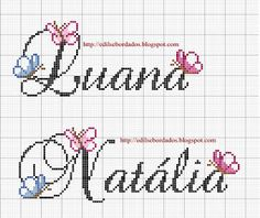 Cross Stitch Letters, Cross Stitch Baby, Letters And Numbers, Cross Stitching, Pixel Art, Crochet Projects, Baby Gifts, Needlework, Bullet Journal