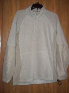 Highland Outfitters Beige 1/4 Zip Fleece Jacket Large #HighlandOutfitters