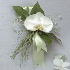 corsage for mother wedding flowers orchid | Orchid Corsage with Jewels