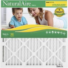 NaturalAire Standard Air Filter, Merv 8, 10 inch x 10 inch x 1 inch, 1-Pack