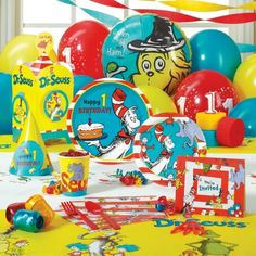 Dr. Seuss 1st Birthday Classic Party Pack for 8