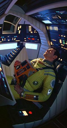 """ultrakillblast: A SPACE ODYSSEY """" The A Space Odyssey"""" spacesuit and set designs still look fresh and hard sci fi real in Stanley Kubrick, Interstellar, Tv Movie, Cinema Movies, Cult Movies, Movie Theater, 2001 A Space Odyssey, Science Fiction Art, Fiction Movies"""