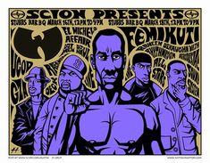 Femi Kuti / Wu Tang Clan Concert Poster by Justin Hampton