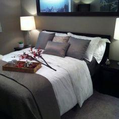 Gray Bedroom love the bedding!!!