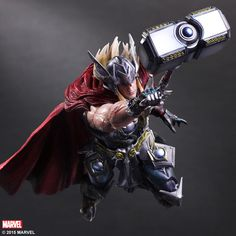 MARVEL UNIVERSE VARIANT PLAY ARTS -KAI- Designed by HITOSHI KONDO THOR | Square Enix Online Store