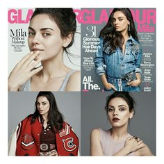 #MilaKunis bem linda nas capas e no photoshoot para @glamourmag. • • • • • • • • • • • • • • • • • • • • • • • • • • • • •  #MilaKunis, well gorgeous on the covers and in the photoshoot to @glamourmag.