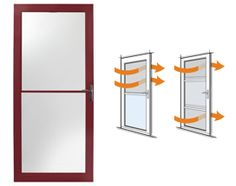 Full Lite with Venting Storm Doors