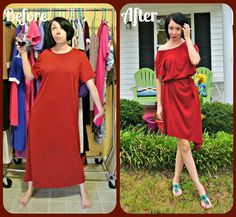 An Off-the-Cuff Off-the-Shoulder No-Sew ReFash!