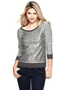 Gap sequin sweater