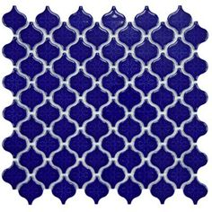 Merola Tile Lantern Mini Glossy Cobalt 10-3/4 in. x 11-1/4 in. x 5 mm Porcelain Mosaic Floor and Wall Tile-FXLLATMC - The Home Depot