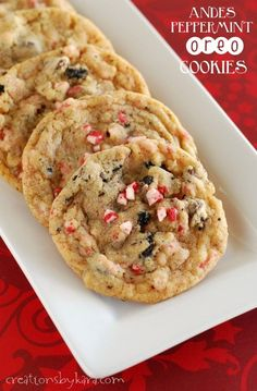 Andes Peppermint Oreo Christmas Cookies